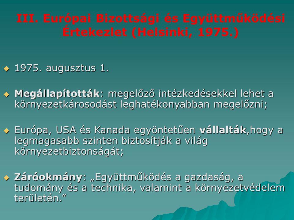 III. Európai Bizottsági és Együttműködési Értekezlet (Helsinki, 1975.)