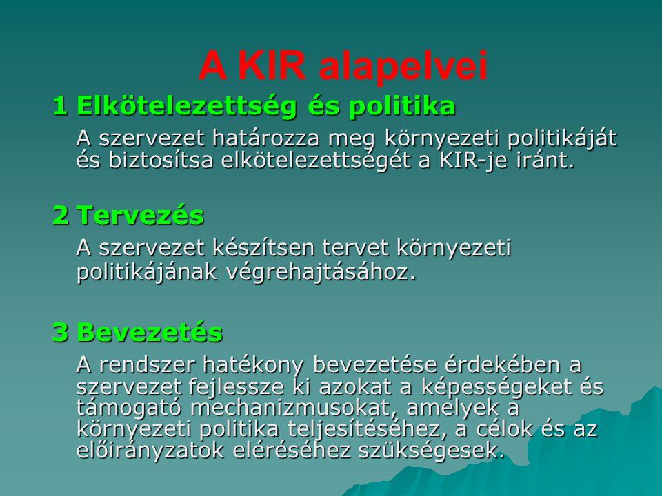 A KIR alapelvei 1 Elkötelezettség és politika