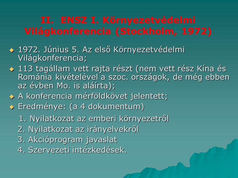 II. ENSZ I. Környezetvédelmi Világkonferencia (Stockholm, 1972)