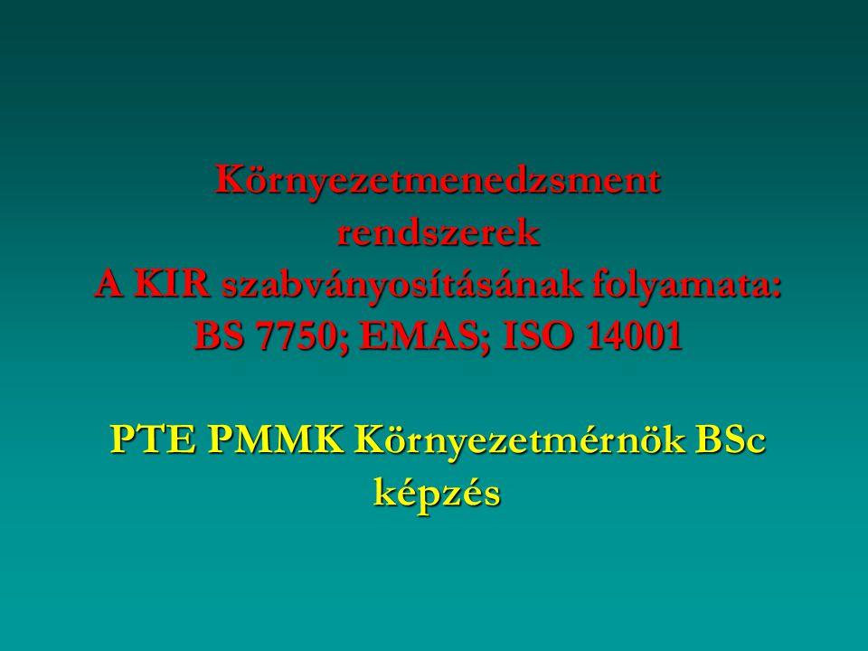 PTE PMMK Környezetmérnök BSc képzés