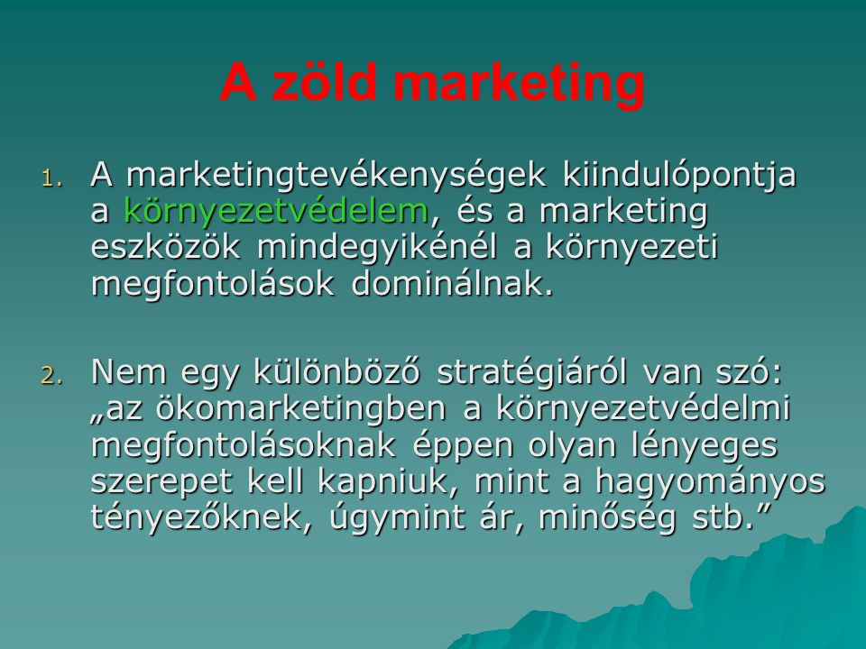 A zöld marketing