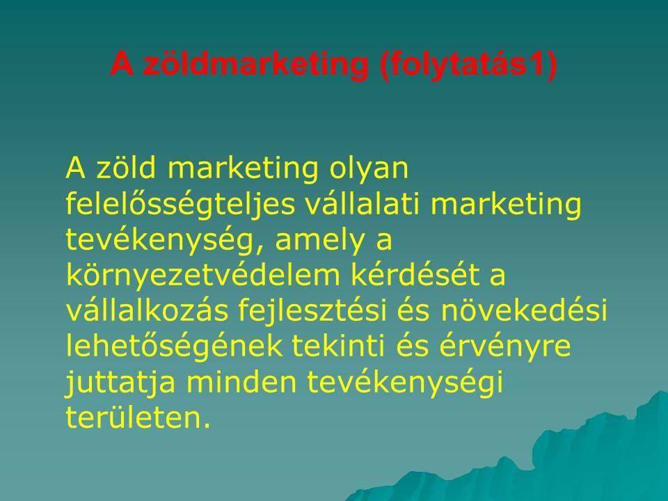 A zöldmarketing (folytatás1)