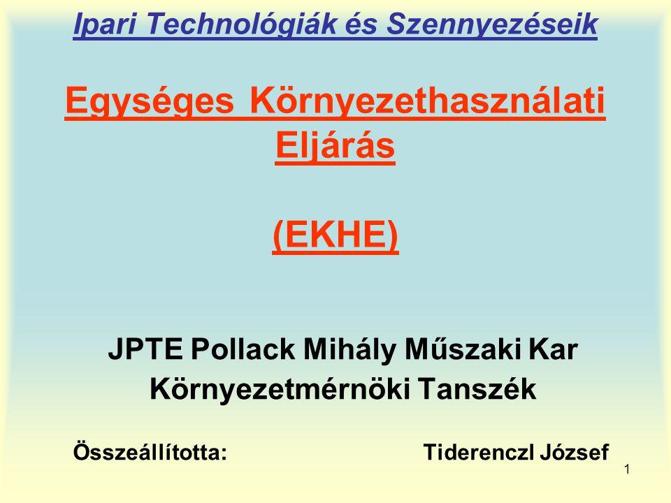 JPTE Pollack Mihály Műszaki Kar Környezetmérnöki Tanszék