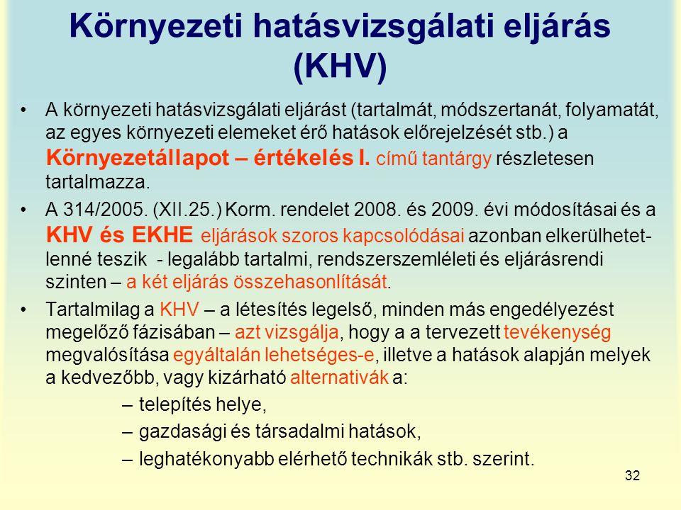 Környezeti hatásvizsgálati eljárás (KHV)