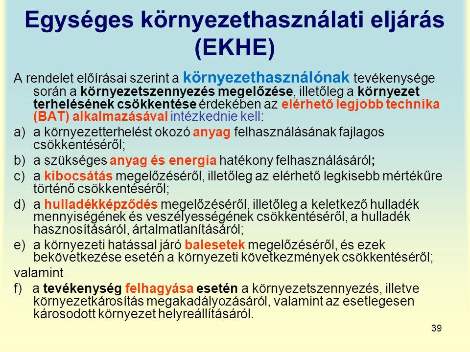 Egységes környezethasználati eljárás (EKHE)