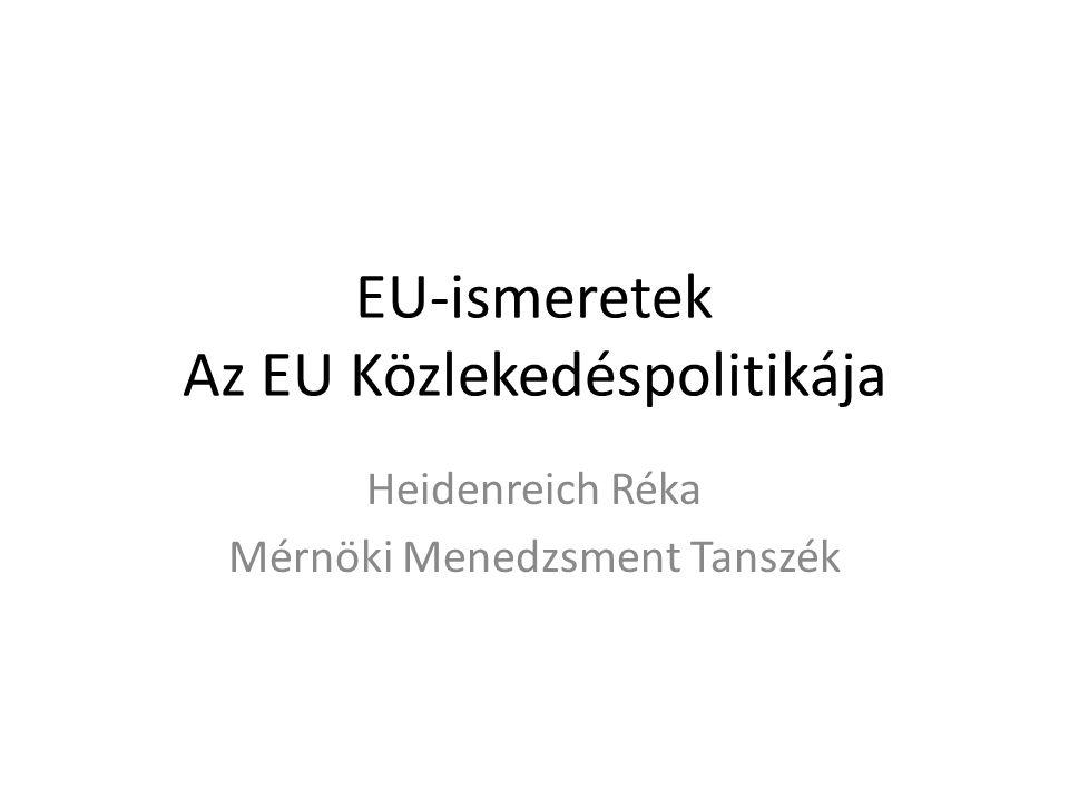EU-ismeretek Az EU Közlekedéspolitikája