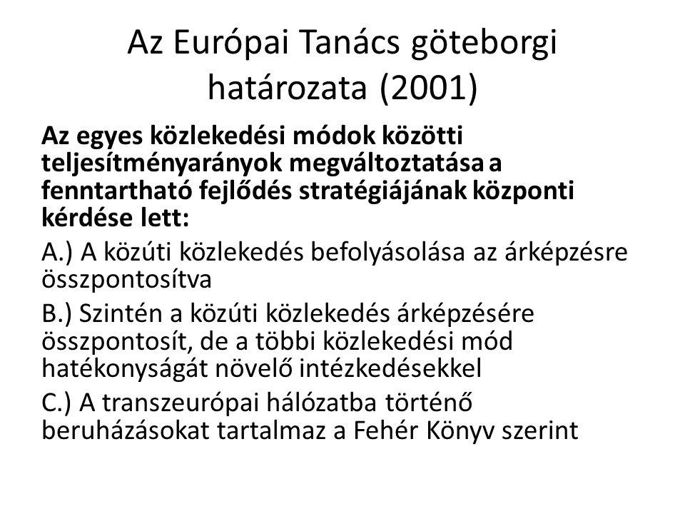 Az Európai Tanács göteborgi határozata (2001)