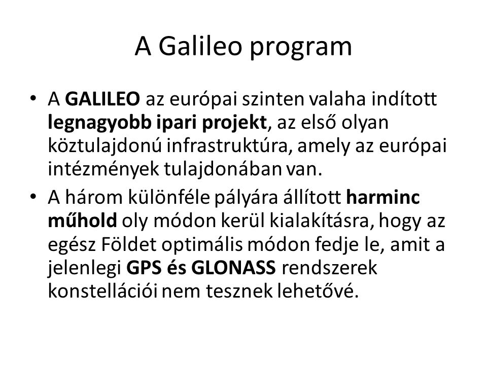 A Galileo program