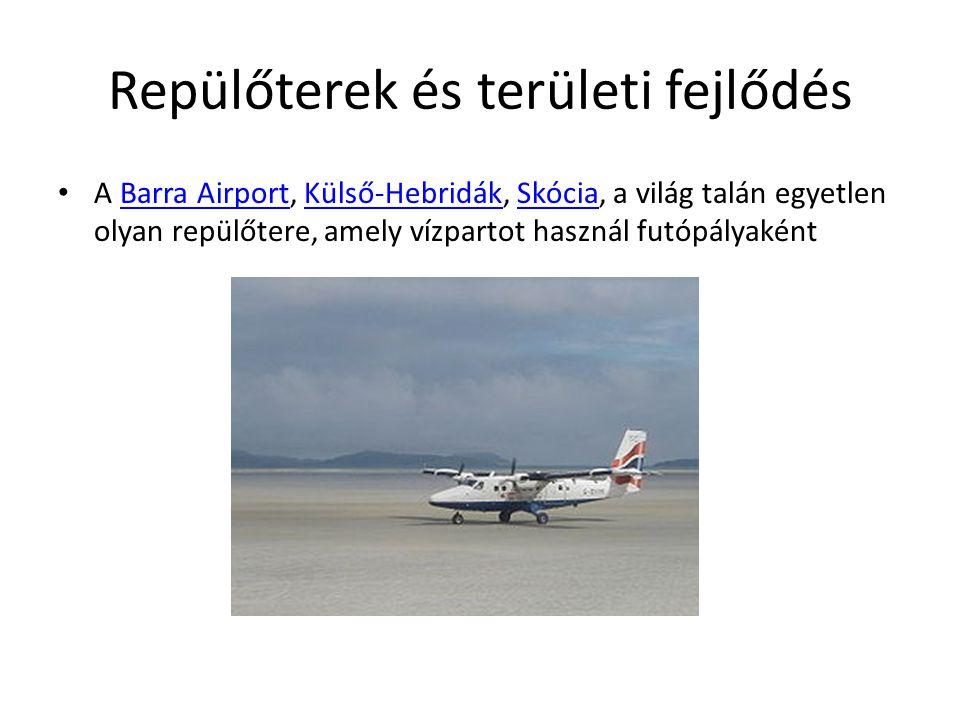 Repülőterek és területi fejlődés