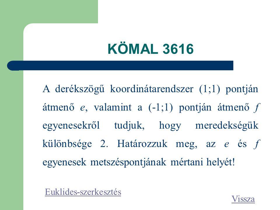 KÖMAL 3616
