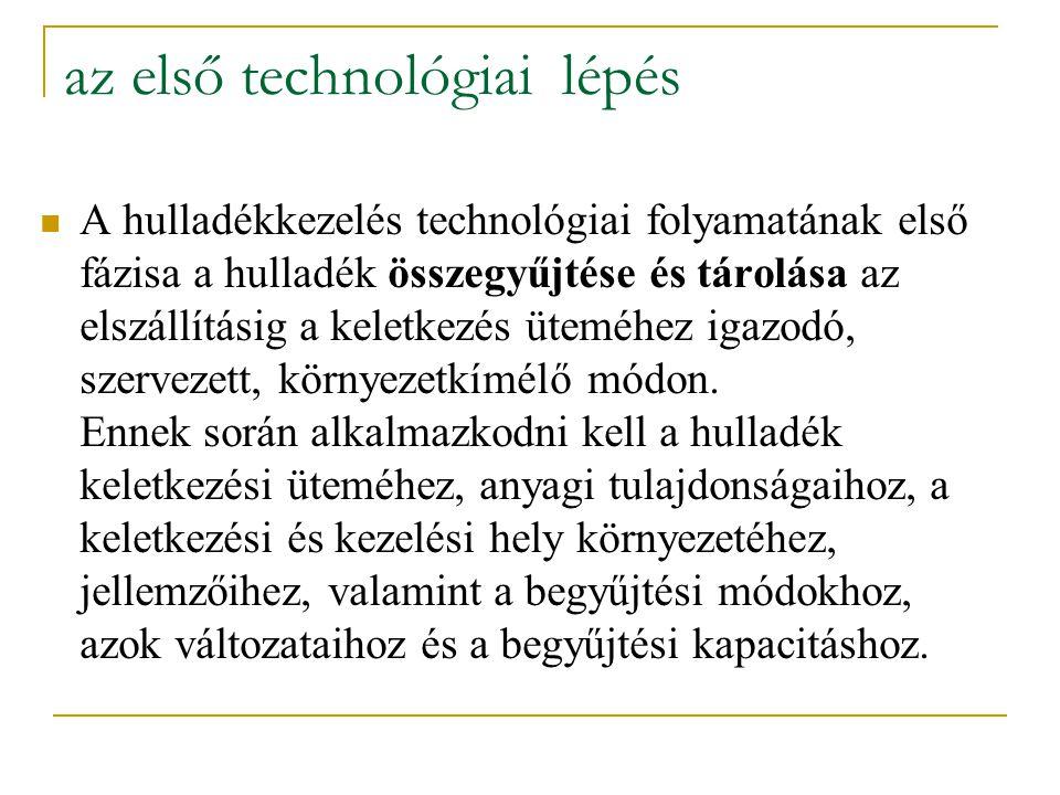 az első technológiai lépés