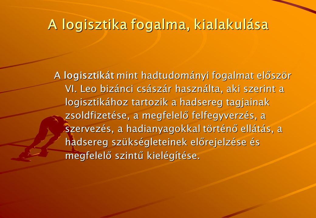 A logisztika fogalma, kialakulása