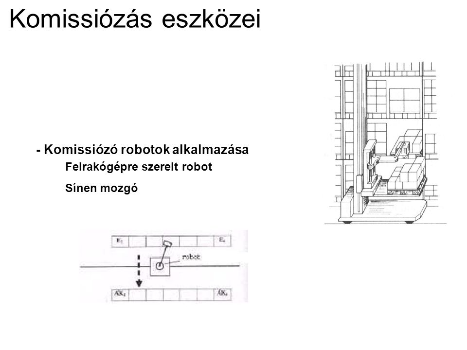 Komissiózás eszközei - Komissiózó robotok alkalmazása