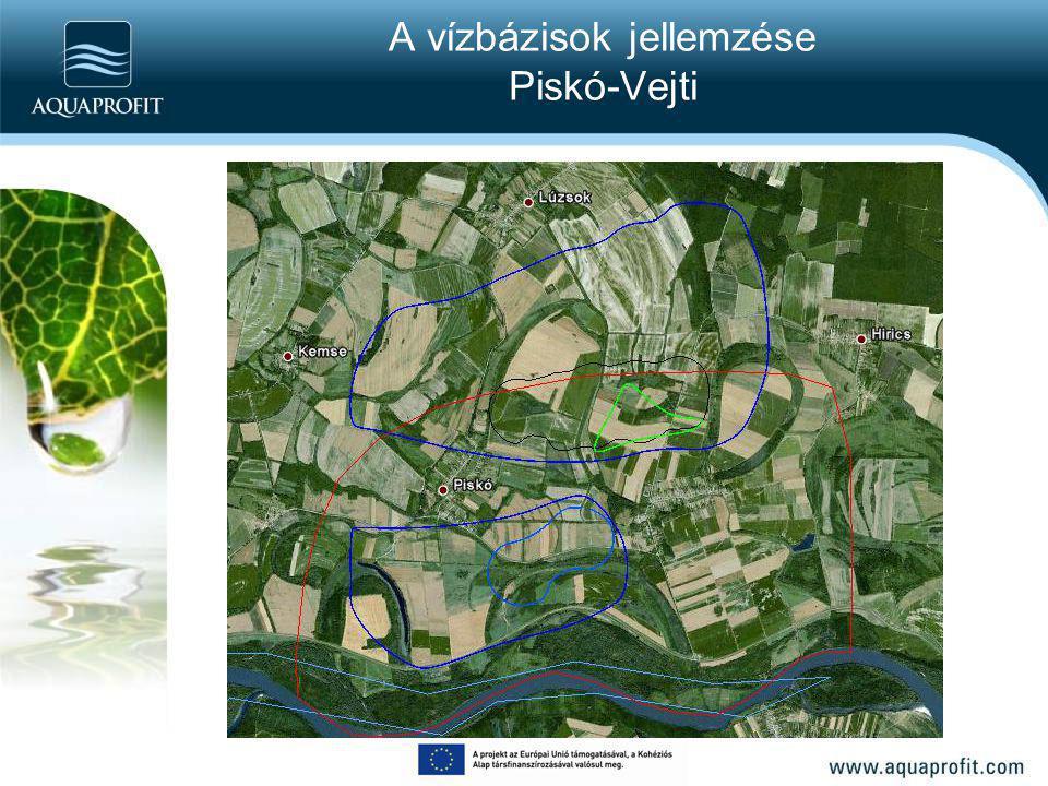 A vízbázisok jellemzése Piskó-Vejti