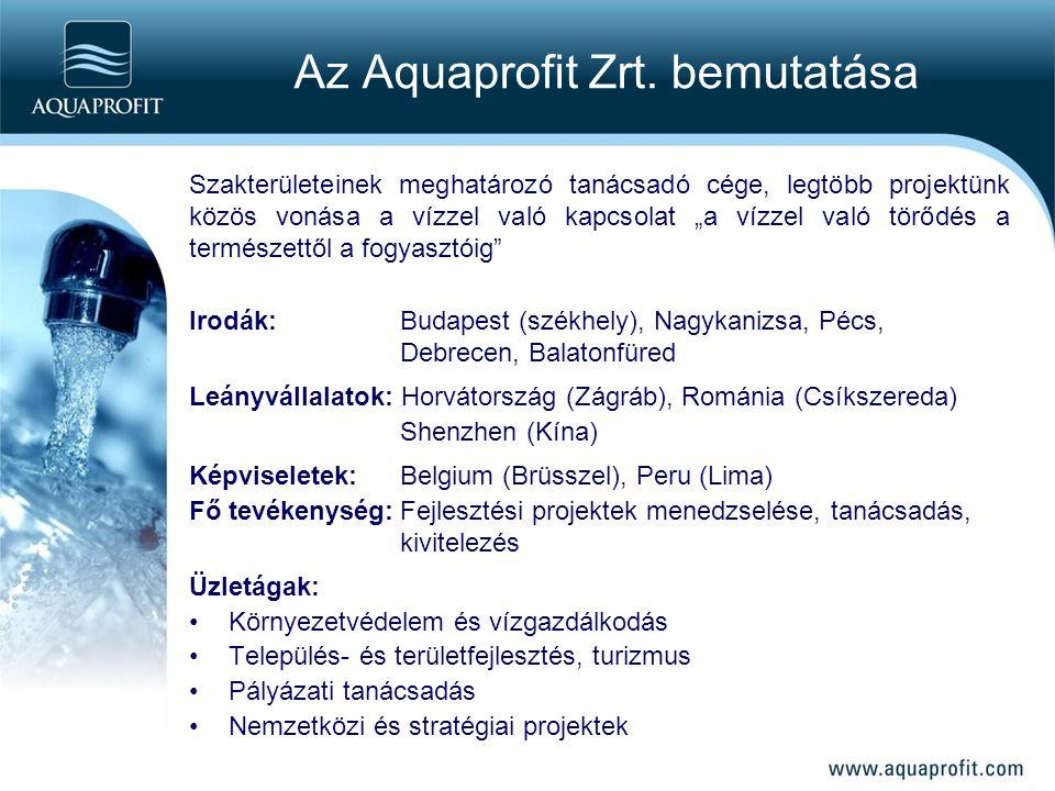 Az Aquaprofit Zrt. bemutatása