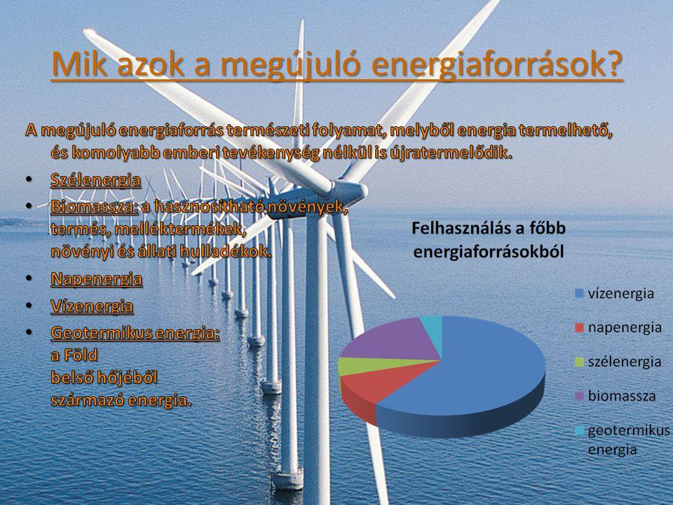 Mik azok a megújuló energiaforrások