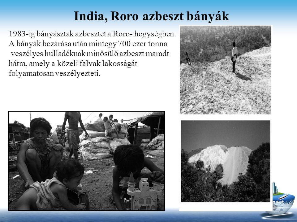 India, Roro azbeszt bányák