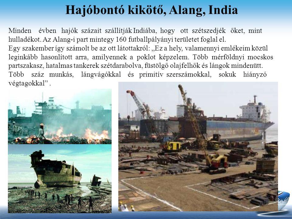 Hajóbontó kikötő, Alang, India