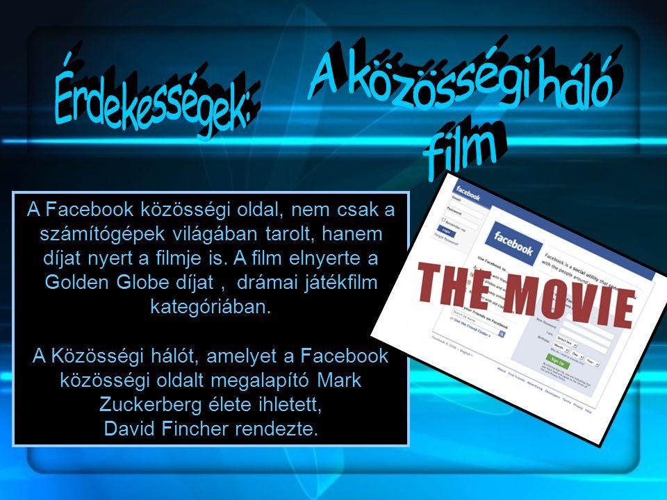 A közösségi háló Érdekességek: film