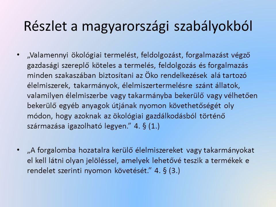Részlet a magyarországi szabályokból