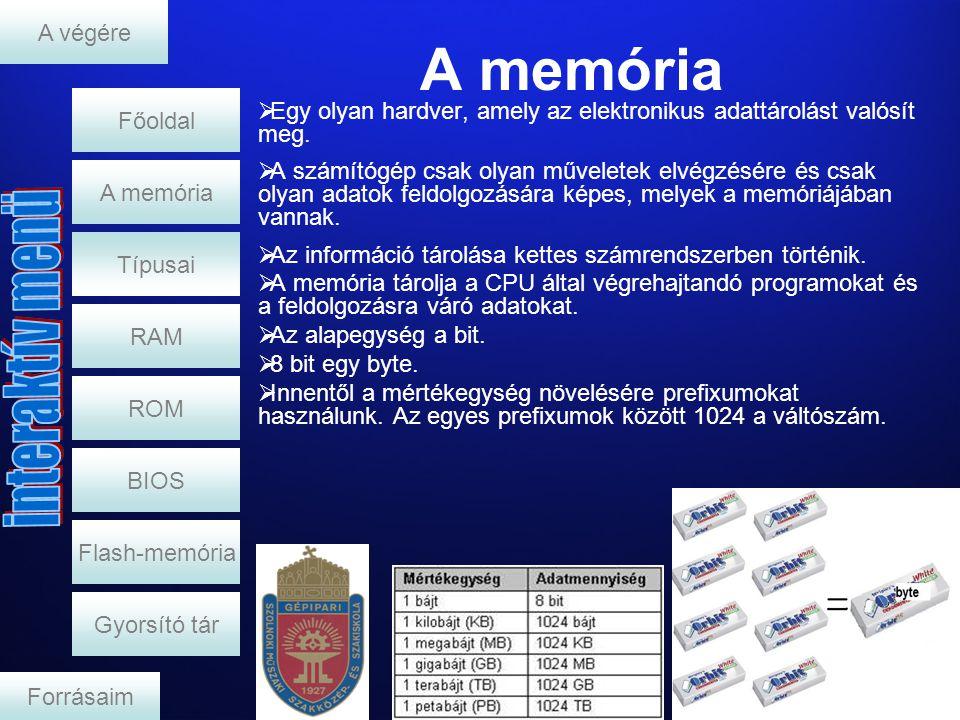 A memória A végére Főoldal