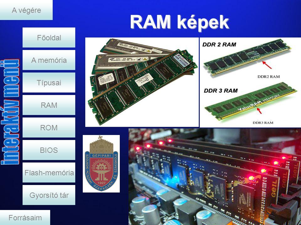 RAM képek A végére Főoldal A memória Típusai RAM ROM BIOS
