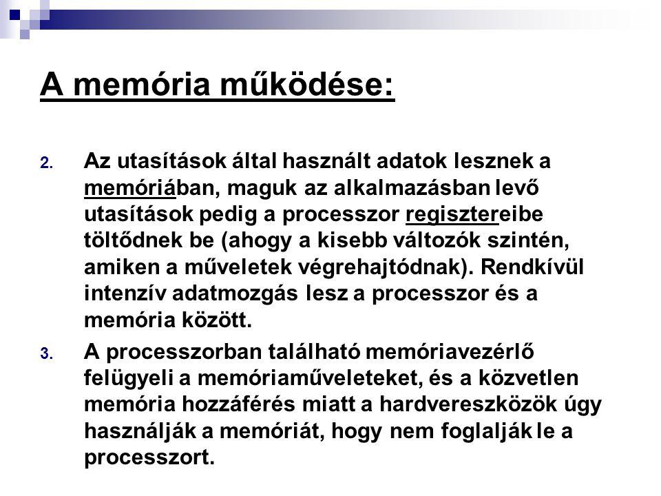 A memória működése: