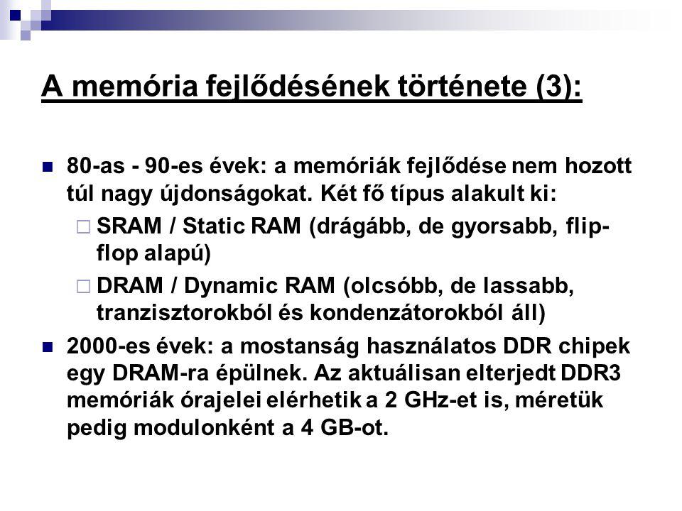 A memória fejlődésének története (3):