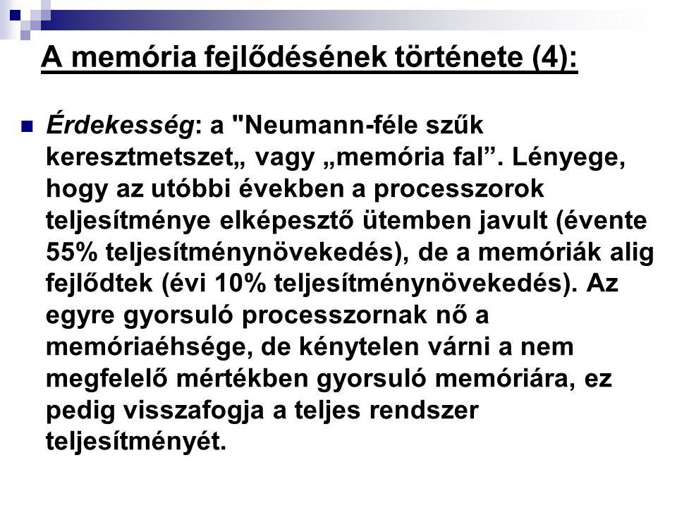 A memória fejlődésének története (4):