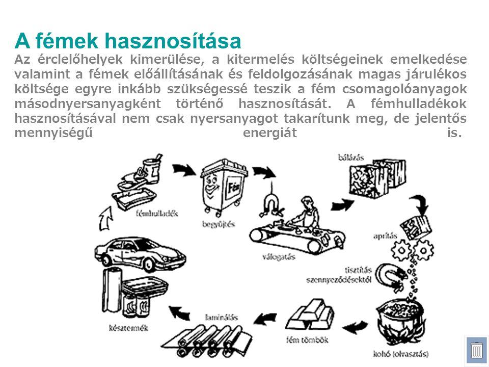 A fémek hasznosítása