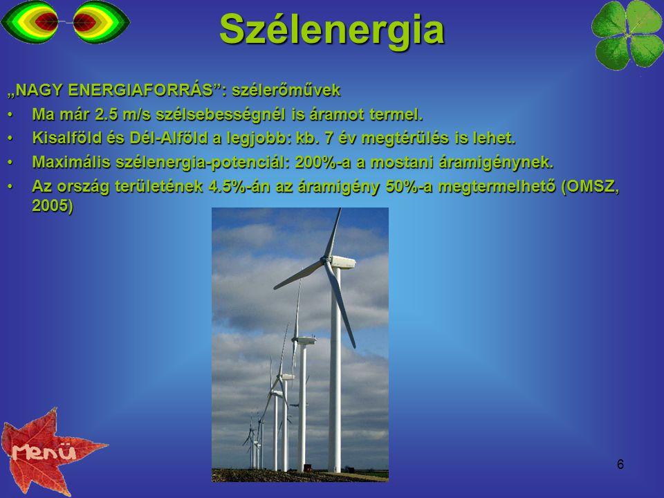 """Szélenergia """"NAGY ENERGIAFORRÁS : szélerőművek"""