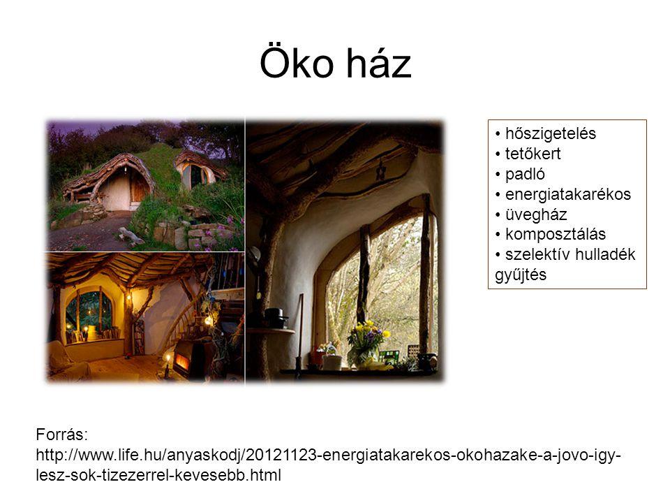 Öko ház hőszigetelés tetőkert padló energiatakarékos üvegház