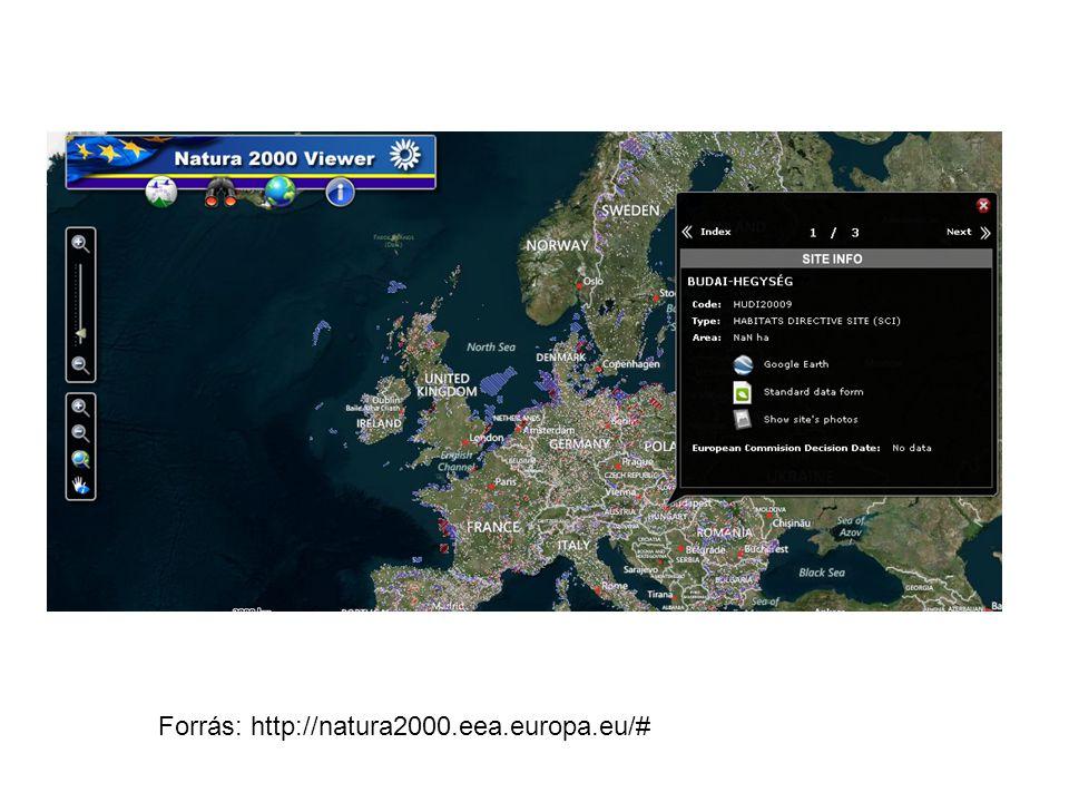 Forrás: http://natura2000.eea.europa.eu/#