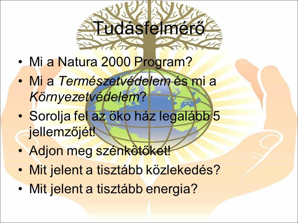Tudásfelmérő Mi a Natura 2000 Program