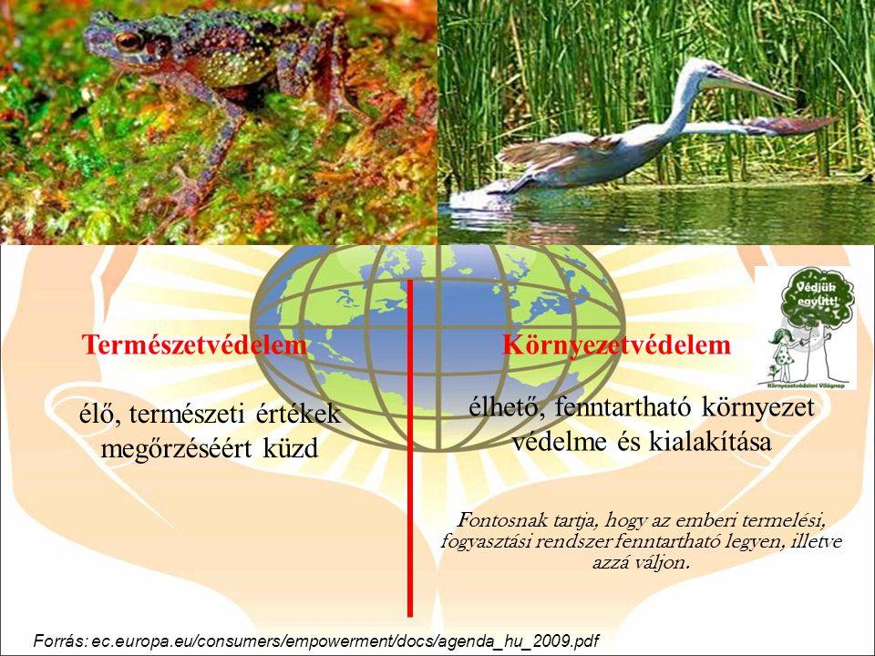 élhető, fenntartható környezet védelme és kialakítása