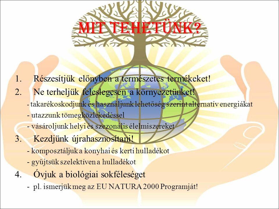 Mit tehetÜNK Részesítjük előnyben a természetes termékeket!