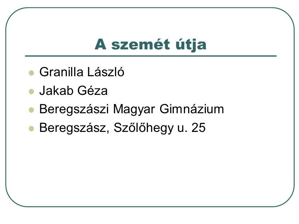 A szemét útja Granilla László Jakab Géza Beregszászi Magyar Gimnázium