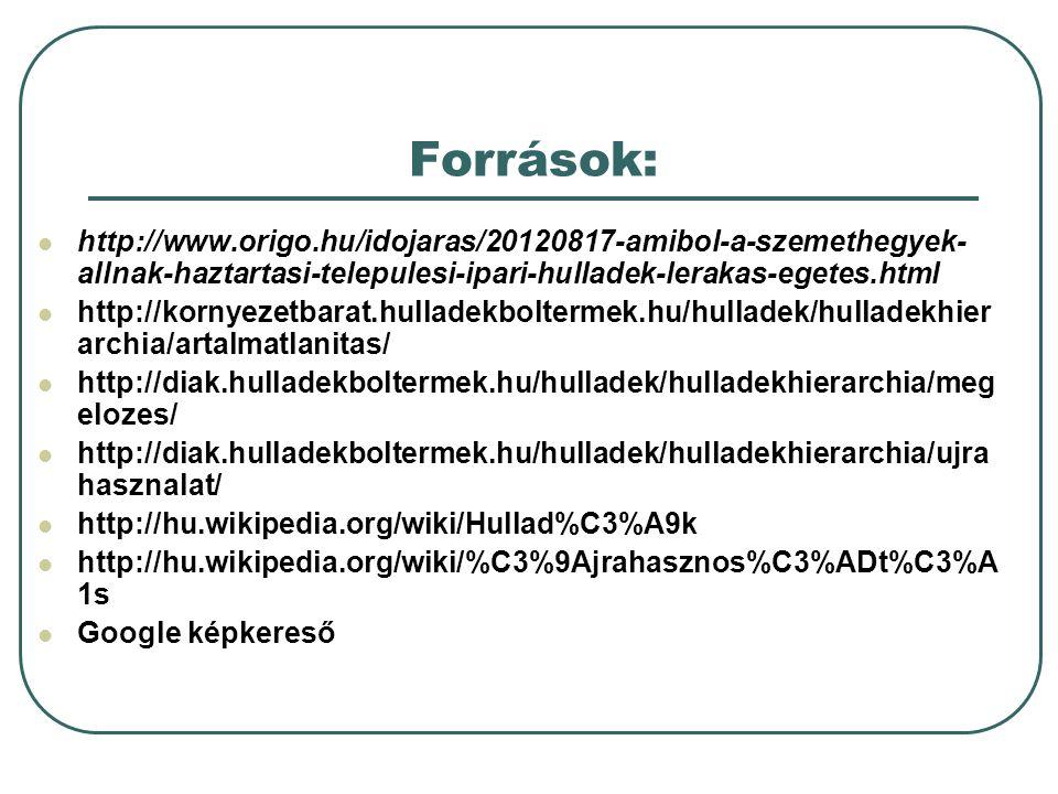 Források: http://www.origo.hu/idojaras/20120817-amibol-a-szemethegyek-allnak-haztartasi-telepulesi-ipari-hulladek-lerakas-egetes.html.