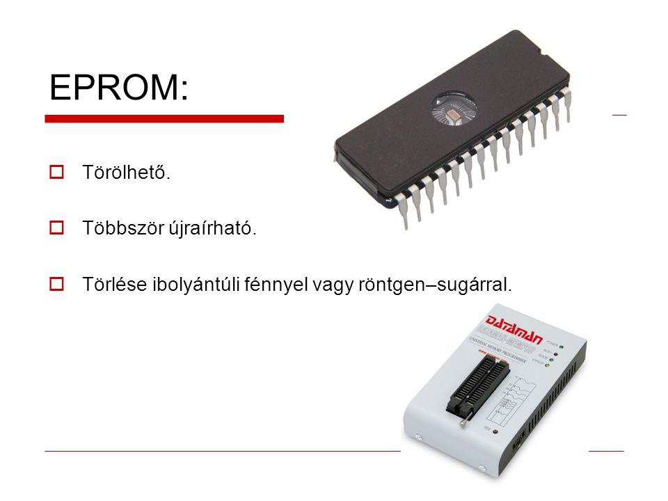EPROM: Törölhető. Többször újraírható.