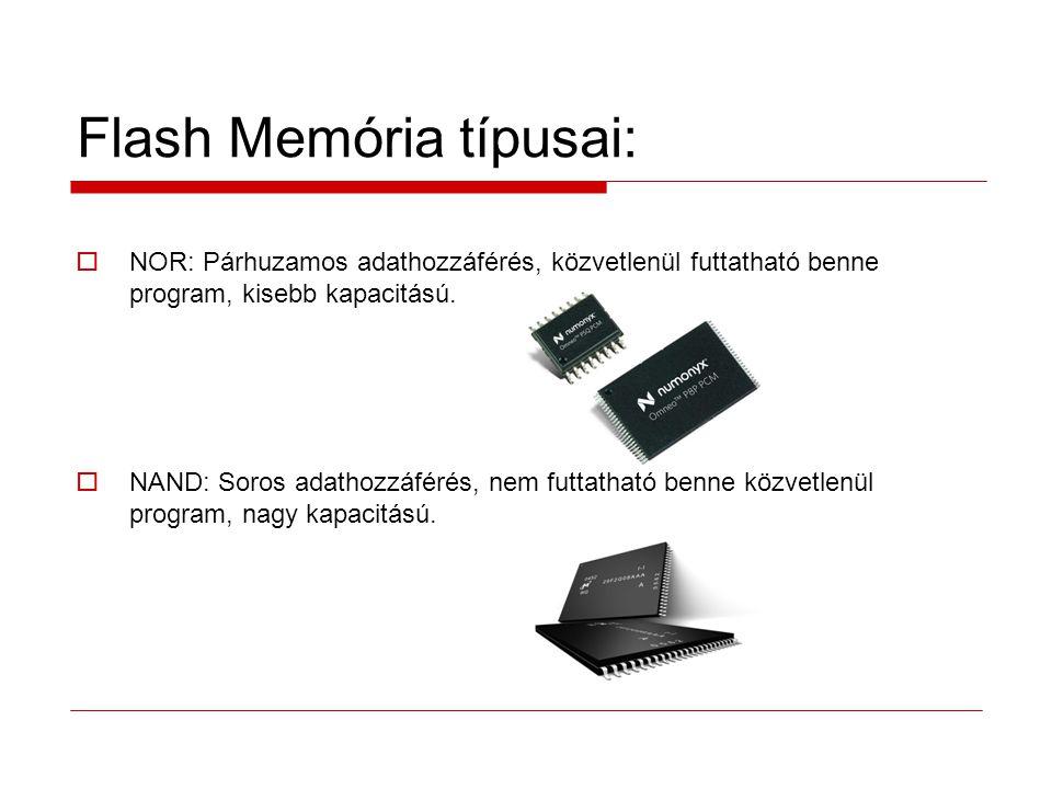 Flash Memória típusai: