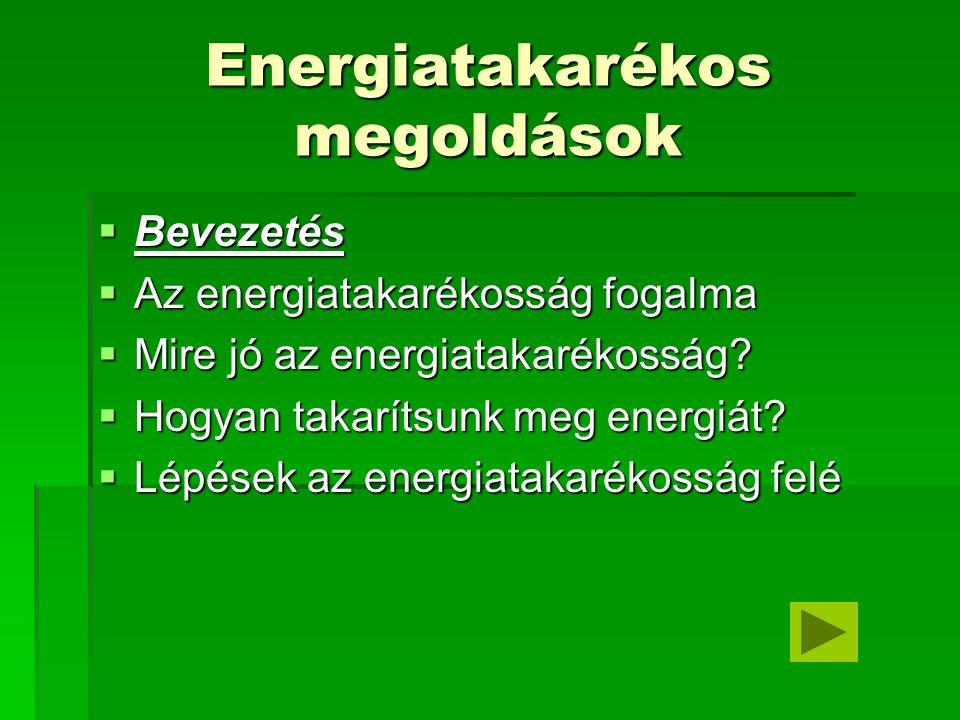 Energiatakarékos megoldások