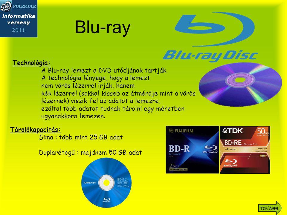 Blu-ray Technológia: A Blu-ray lemezt a DVD utódjának tartják.