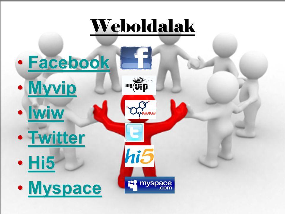 Weboldalak Facebook Myvip Iwiw Twitter Hi5 Myspace