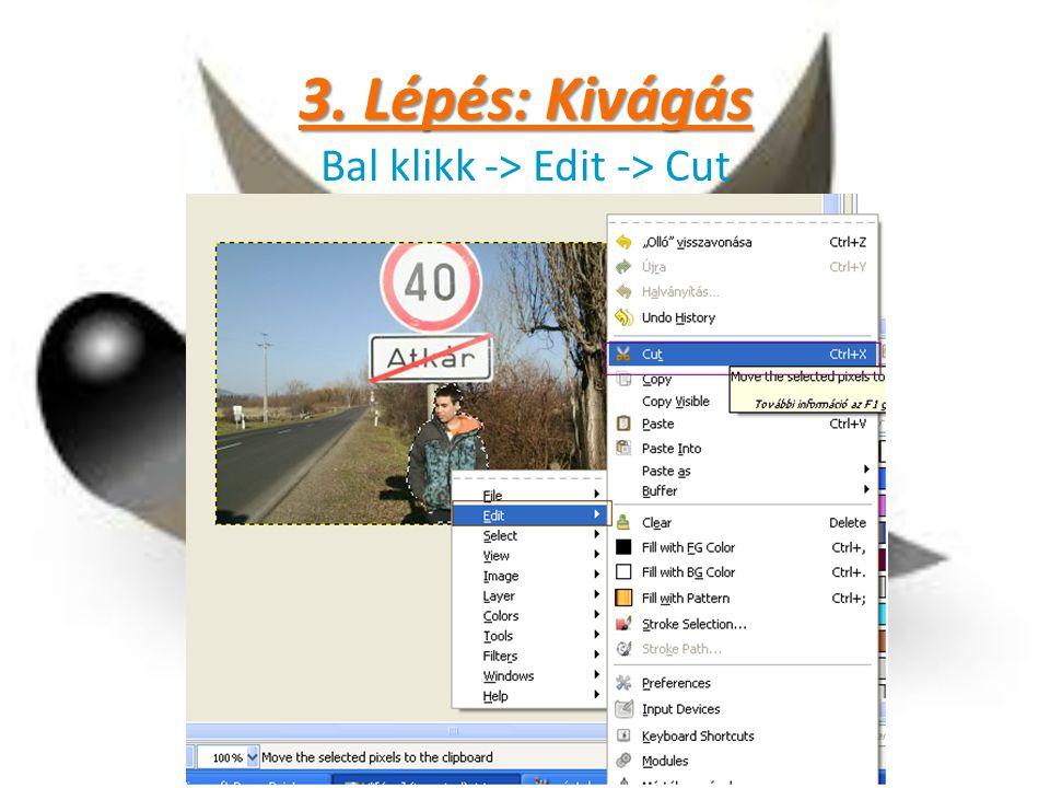 Bal klikk -> Edit -> Cut
