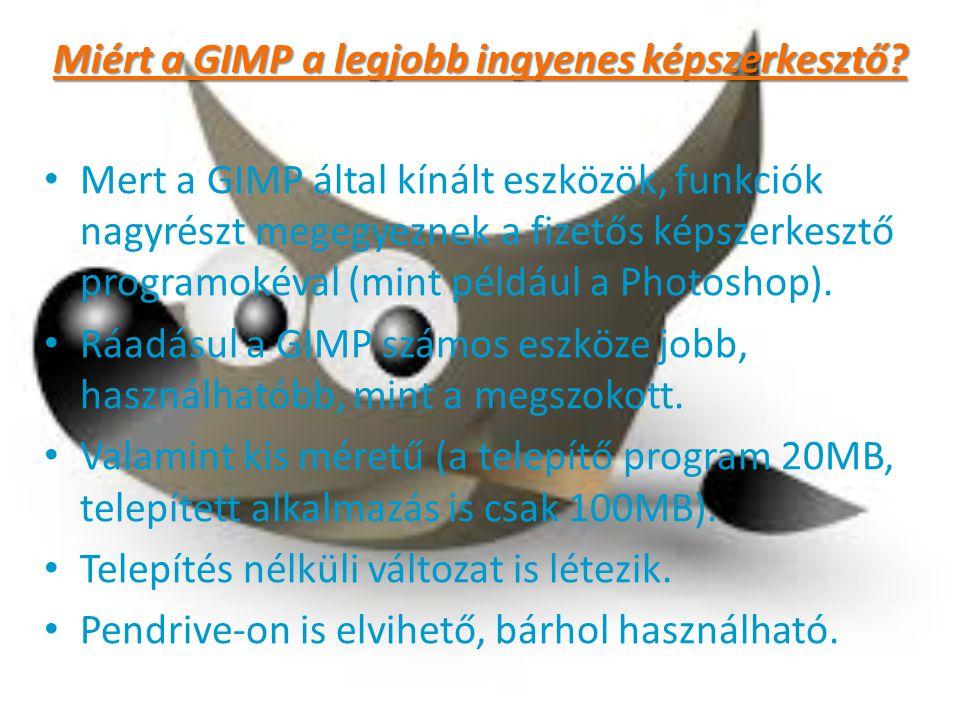 Miért a GIMP a legjobb ingyenes képszerkesztő