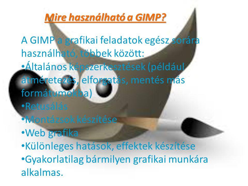 Mire használható a GIMP