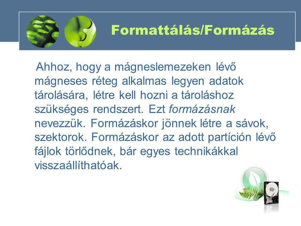 Formattálás/Formázás