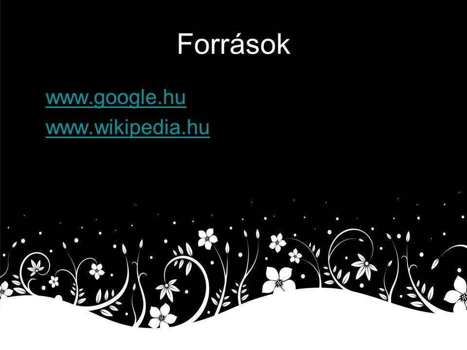Források www.google.hu www.wikipedia.hu