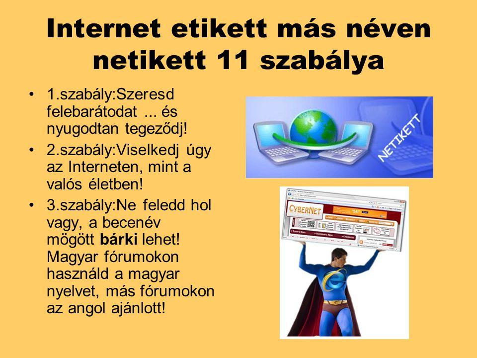Internet etikett más néven netikett 11 szabálya