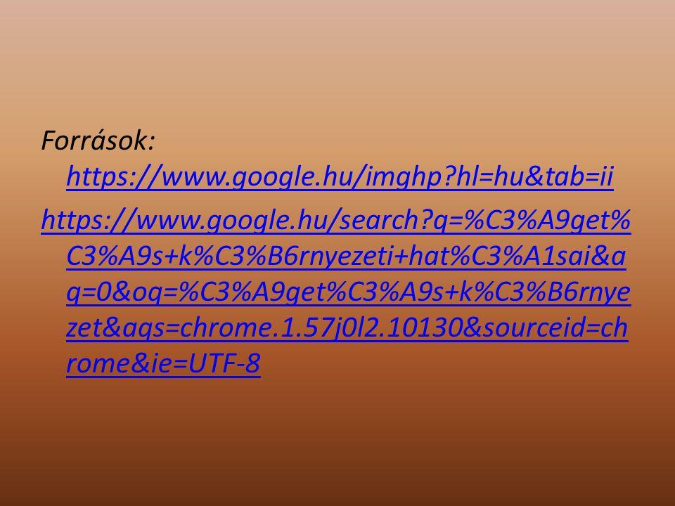 Források: https://www. google. hu/imghp. hl=hu&tab=ii https://www